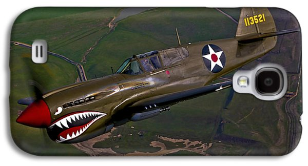 P-40 Galaxy S4 Cases - A P-40e Warhawk In Flight Galaxy S4 Case by Scott Germain