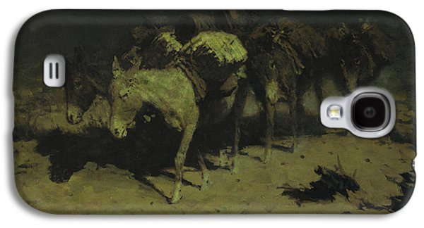 A Pack Train Galaxy S4 Case by Frederic Remington