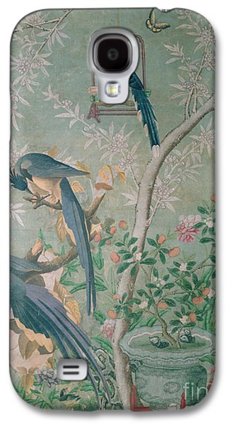 A Pair Of Magpie Jays  Vintage Wallpaper Galaxy S4 Case by John James Audubon