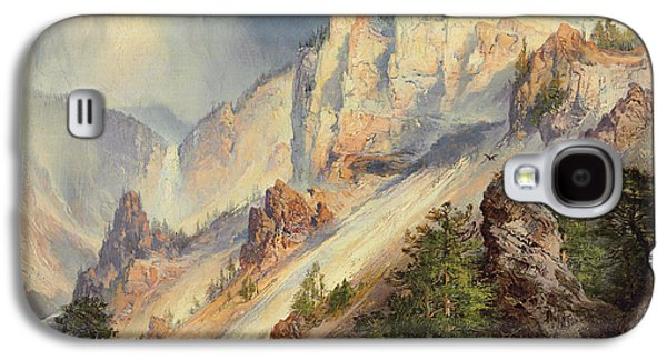 A Passing Shower In The Yellowstone Canyon Galaxy S4 Case by Thomas Moran