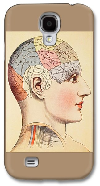 A Phrenological Map Of The Human Brain Galaxy S4 Case by English School