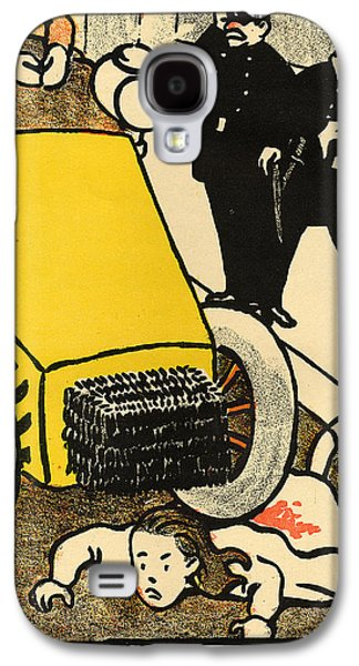 A Police Car Runs Over A Little Girl Galaxy S4 Case by Felix Edouard Vallotton