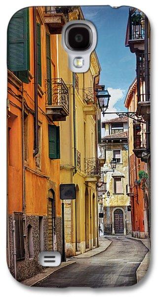 A Pretty Little Street In Verona Italy  Galaxy S4 Case by Carol Japp