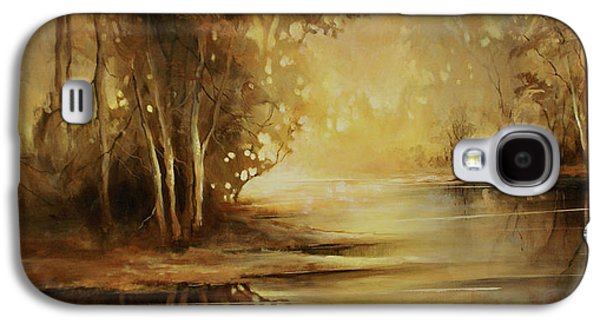 Creek Galaxy S4 Cases - A Quiet Moment Galaxy S4 Case by Michael Lang