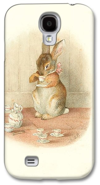 A Rabbit's Tea Party Galaxy S4 Case by Beatrix Potter