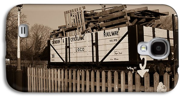 A Railway Wagon Galaxy S4 Case by Steven Sexton