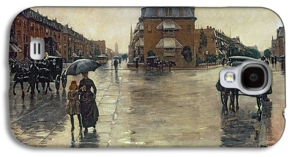 A Rainy Day In Boston Galaxy S4 Case by Childe Hassam