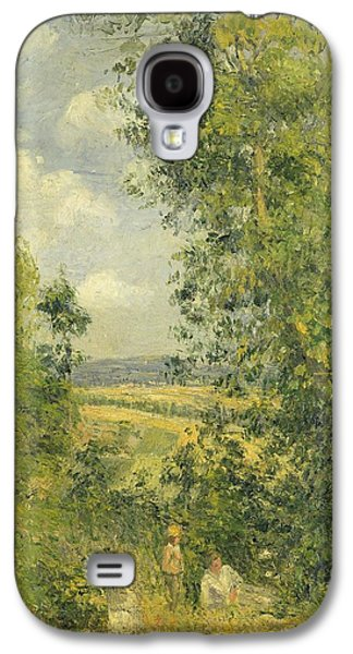 A Rest In The Meadow Galaxy S4 Case by Camille Pissarro