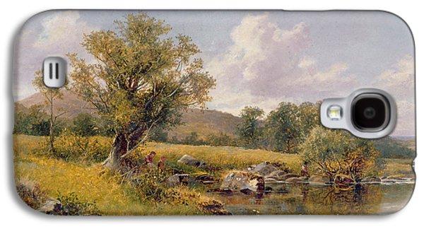 A River Landscape Galaxy S4 Case by David Bates