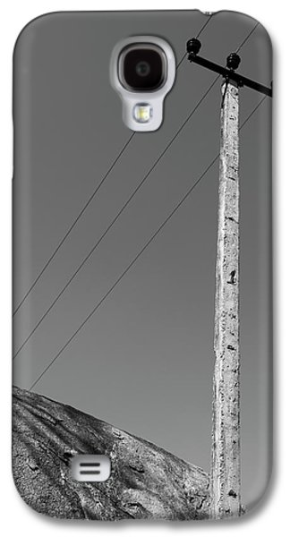 Galaxy S4 Case featuring the photograph A Rock And A Pole, Hampi, 2017 by Hitendra SINKAR