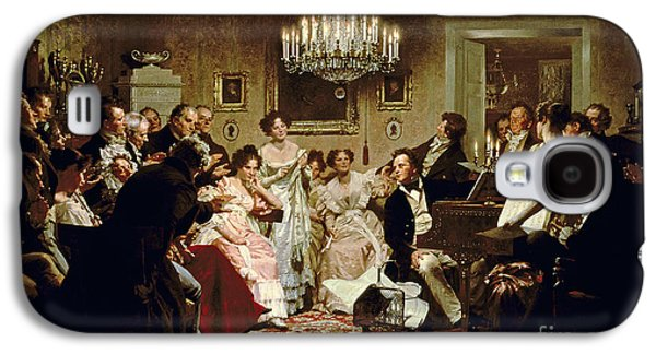 A Schubert Evening In A Vienna Salon Galaxy S4 Case by Julius Schmid