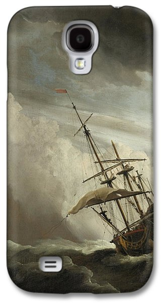 A Ship On The High Seas Caught By A Squall Galaxy S4 Case by Willem van de Velde the Younger