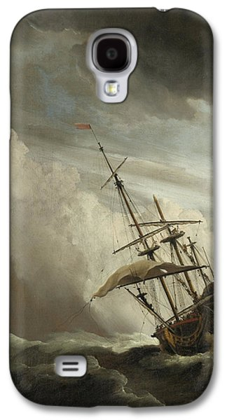 A Ship On The High Seas Caught By A Squall Galaxy S4 Case