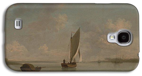 A Smack Under Sail In A Light Breeze In A River Galaxy S4 Case