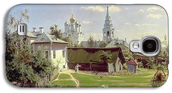 Moscow Galaxy S4 Case - A Small Yard In Moscow by Vasilij Dmitrievich Polenov