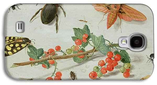 A Sprig Of Redcurrants With An Elephant Hawk Moth, A Magpie Moth And Other Insects, 1657 Galaxy S4 Case