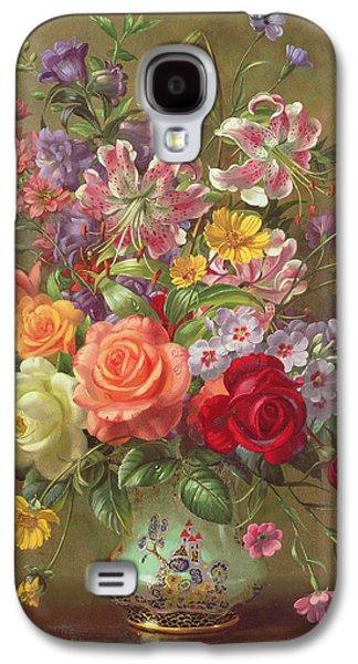 A Summer Floral Arrangement Galaxy S4 Case by Albert Williams