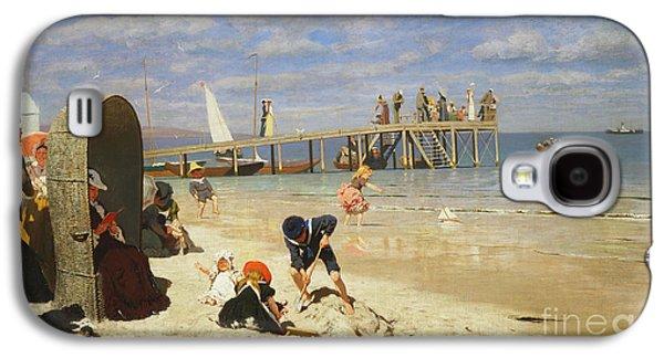 A Sunny Day At The Beach Galaxy S4 Case by Wilhelm Simmler