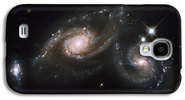Twinkle Galaxy S4 Cases - A Triplet Of Galaxies Known As Arp 274 Galaxy S4 Case by Stocktrek Images