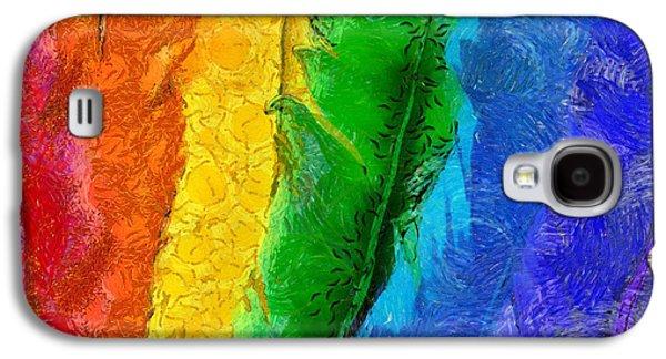 A Unique Rainbow Galaxy S4 Case by Krissy Katsimbras
