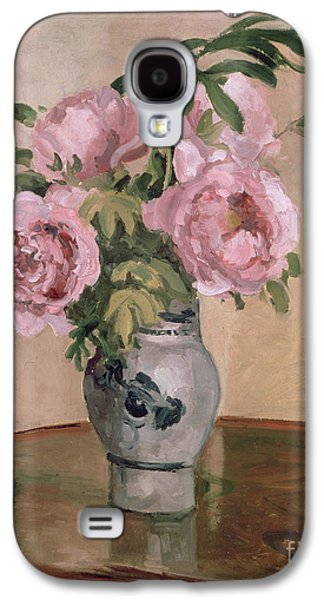 A Vase Of Peonies Galaxy S4 Case by Camille Pissarro