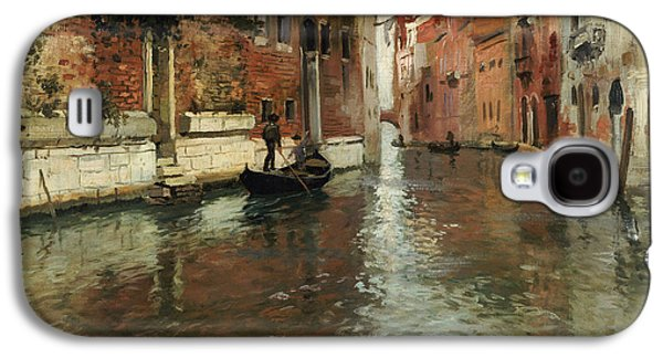 Medieval Galaxy S4 Cases - A Venetian Backwater  Galaxy S4 Case by Fritz Thaulow
