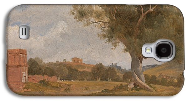A View At Girgenti In Sicily With The Temple Of Concord And Juno Galaxy S4 Case by Charles Lock Eastlake