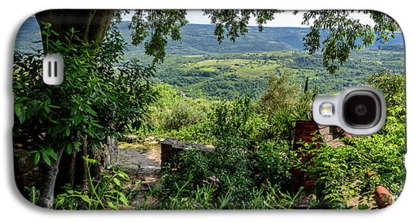 A View From Groznjan Of The Istrian Hill Town Countryside, Istria, Croatia Galaxy S4 Case