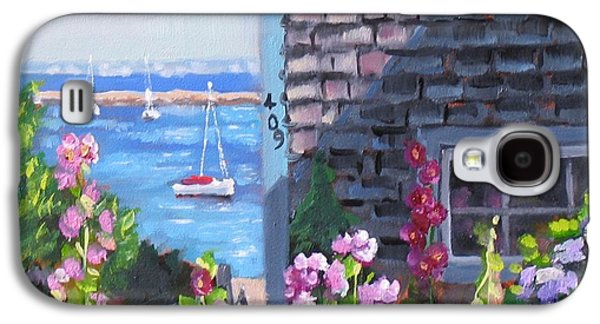 Cape Cod Paintings Galaxy S4 Cases - A Visit to P Town Jr Galaxy S4 Case by Laura Lee Zanghetti
