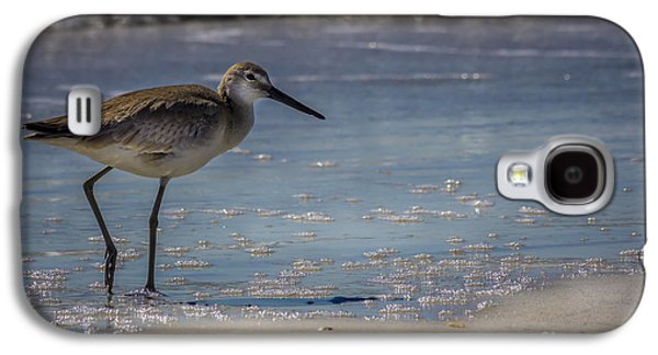 Sandpiper Galaxy S4 Case - A Walk On The Beach by Marvin Spates
