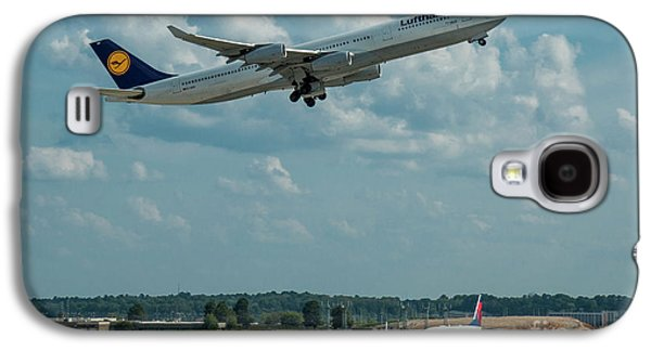 A Way Home Lufthansa Airlines Airbus 340-300 Atlanta Airport Art Galaxy S4 Case