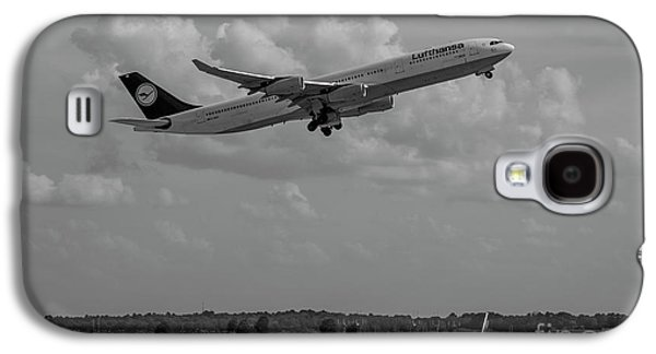 The Way Out Of Town Lufthansa German Airlines Jet Art Galaxy S4 Case