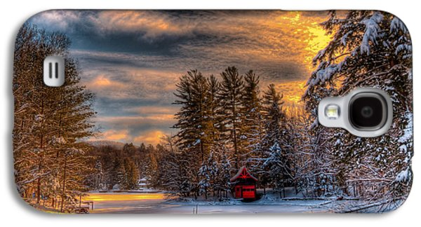 A Winter Sunset Galaxy S4 Case by David Patterson