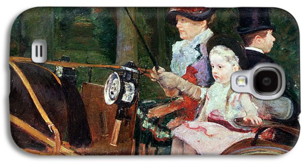 A Woman And Child In The Driving Seat Galaxy S4 Case by Mary Stevenson Cassatt