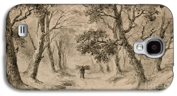 A Wood Gatherer In The Forest Galaxy S4 Case by Anton Mauve