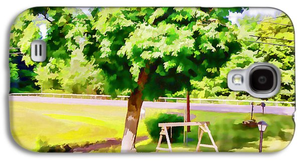 A Wooden Swing Under The Tree 1 Galaxy S4 Case by Lanjee Chee