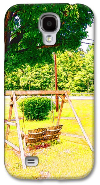 A Wooden Swing Under The Tree Galaxy S4 Case by Lanjee Chee
