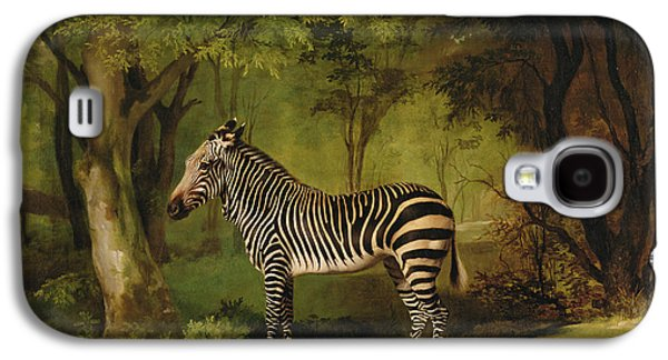 Stripes Paintings Galaxy S4 Cases - A Zebra Galaxy S4 Case by George Stubbs