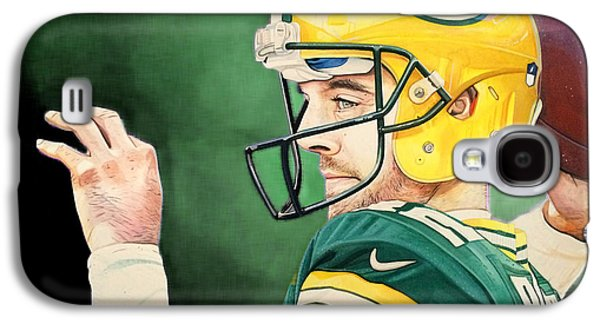 Aaron Rodgers - Green Bay Packers Galaxy S4 Case by Michael  Pattison