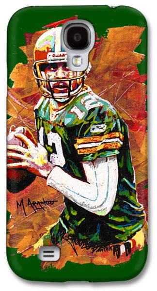 Aaron Rodgers Galaxy S4 Case by Maria Arango
