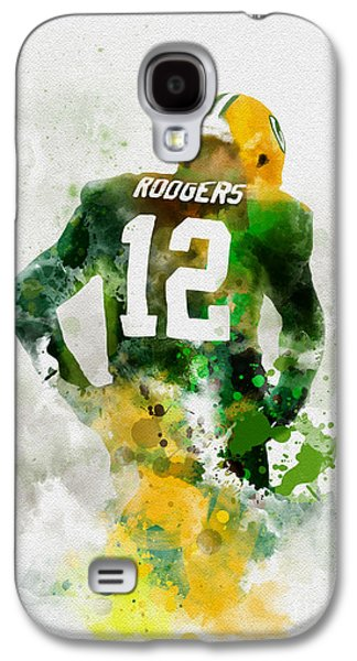 Aaron Rodgers Galaxy S4 Case by Rebecca Jenkins