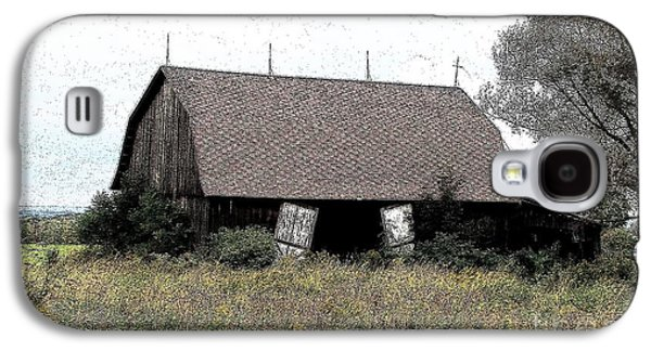 Abandoned Barn In Wny Ink Sketch Effect Galaxy S4 Case by Rose Santuci-Sofranko
