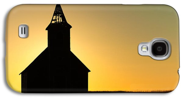 Abandoned Church Silhouette Galaxy S4 Case