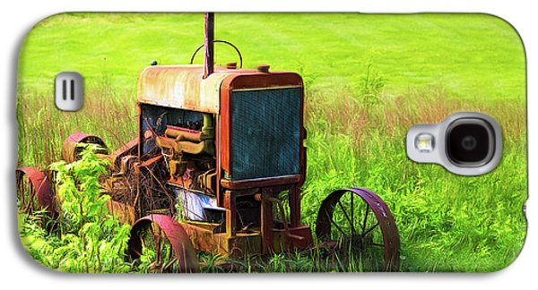 Tractors Galaxy S4 Case - Abandoned Farm Tractor by Tom Mc Nemar