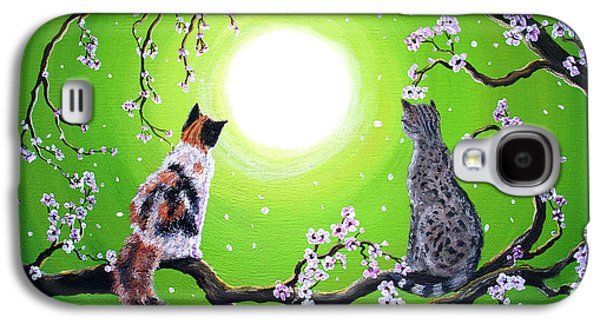 Abby And Caesar In The Spring Galaxy S4 Case by Laura Iverson