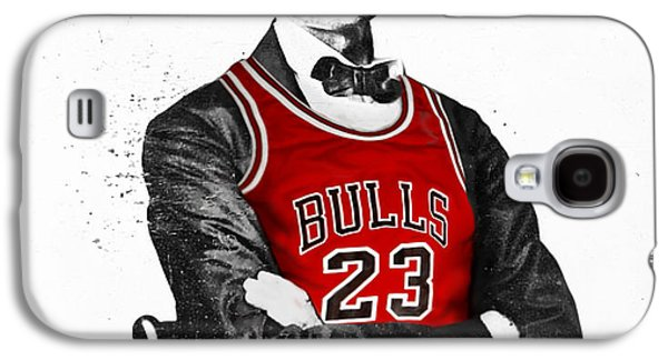 Chicago Galaxy S4 Case - Abe Lincoln In A Michael Jordan Chicago Bulls Jersey by Roly Orihuela