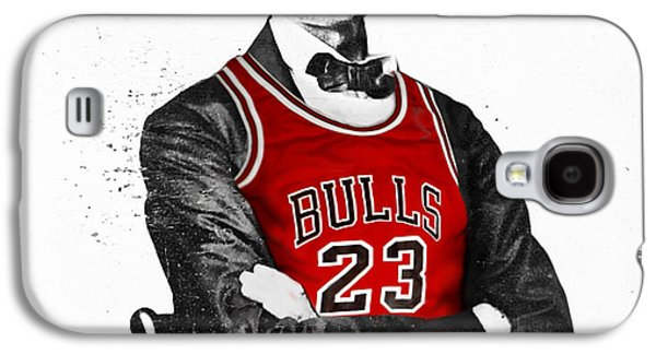 City Scenes Galaxy S4 Case - Abe Lincoln In A Michael Jordan Chicago Bulls Jersey by Roly O