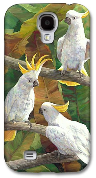 Cockatoo Galaxy S4 Case - Above It All by Laurie Hein