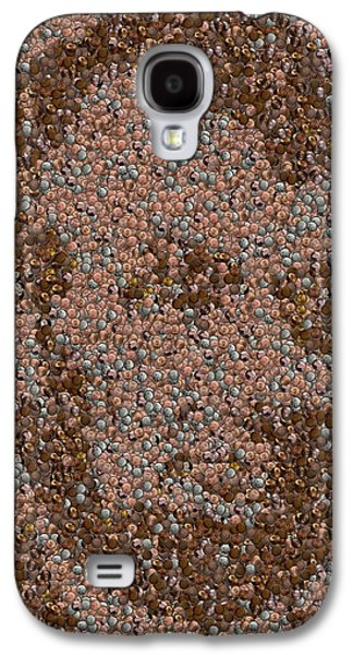 Abraham Lincoln Penny Mosaic Galaxy S4 Case by Paul Van Scott
