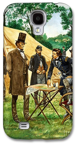 Abraham Lincoln Plans His Campaign During The American Civil War  Galaxy S4 Case by Peter Jackson